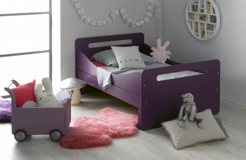 lit enfant fille transformable mauve
