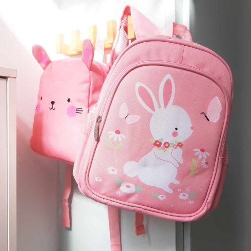 sac maternelle fille lapin rose