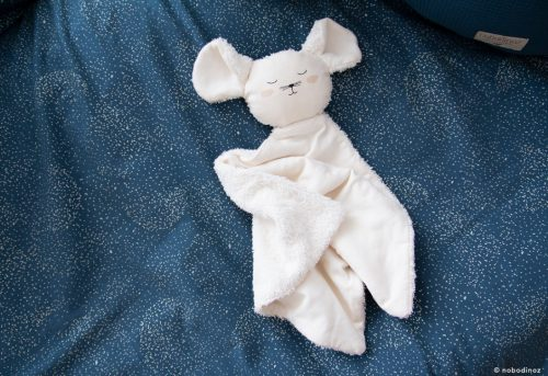 Doudou en coton Bio SOURIS NATURAL