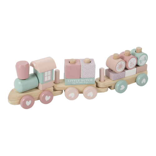 Train en bois avec blocs ROSE little dutch