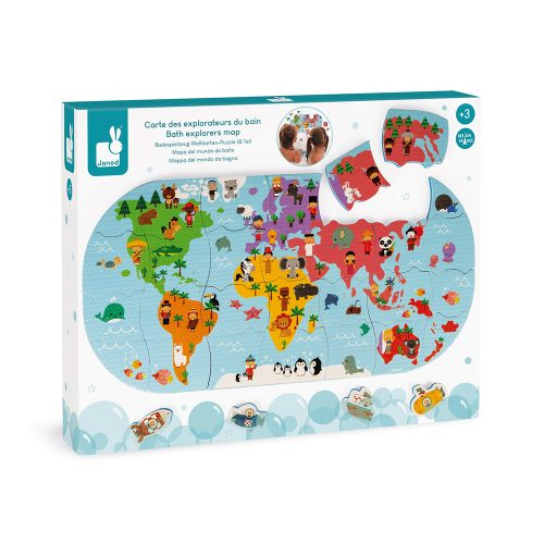 Puzzle de bain CARTE DES EXPLORATEURS DU BAIN