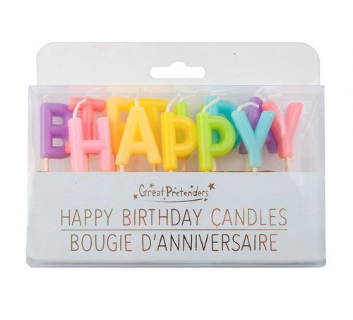 Bougies d'anniversaire HAPPY BIRTHDAY
